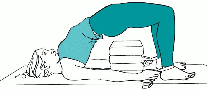 Рис.21А. ПОЗА НА ЧЕТЫРЕХ ОПОРАХ С ОПОРОЙ ДЛЯ ТАЗА И РЕМНЕМ (c. 70)