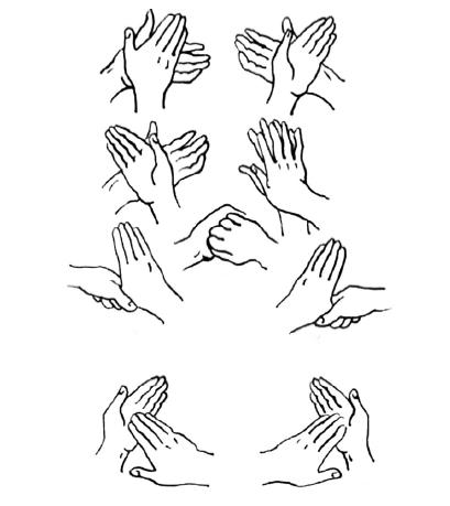 Рис.5. Последовательность гигиенической обработки рук