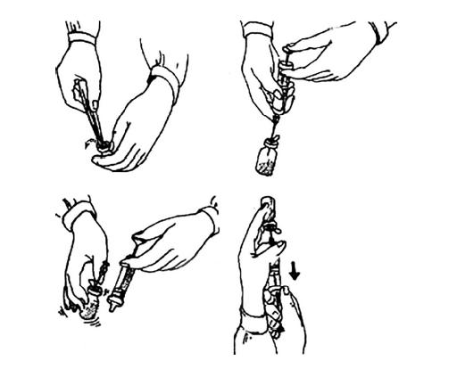 Рис.6. Стандарт набора раствора из флакона для инъекций