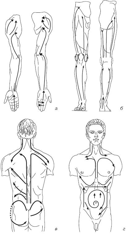 Линии классического массажа