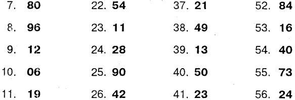 Запомните двузначные числа и их порядковые номера